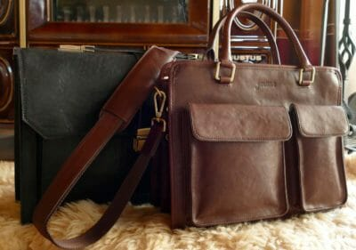 Schwarze und braune Leder Aktentaschen