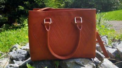 Hellbraune Handtaschen aus Leder